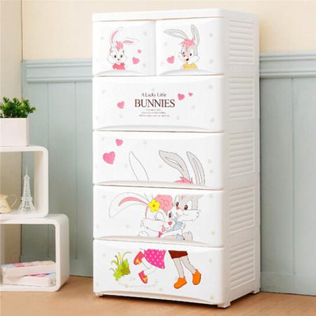 宝宝衣柜抽屉式塑料收纳柜儿童房储物柜衣服盒收纳箱五斗柜