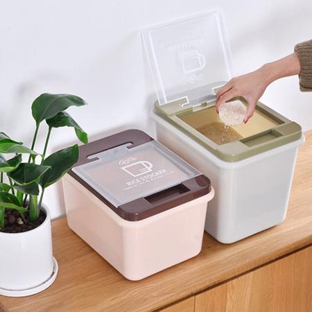 大号防潮装米箱厨房面粉桶防虫米桶米盒子储米箱米面收纳箱 小号绿色