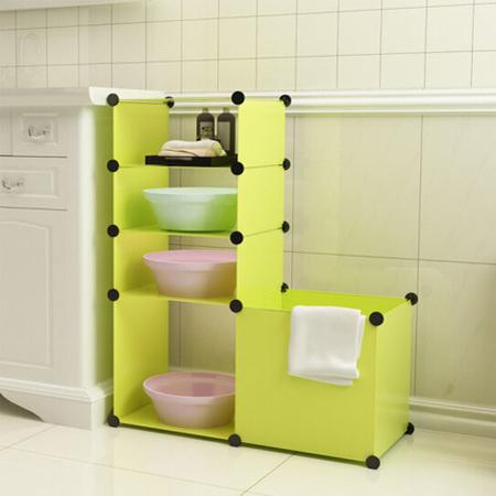 厨卫置物架收纳桶卫浴架脸盆架树脂片浴室置物架收纳脏衣桶