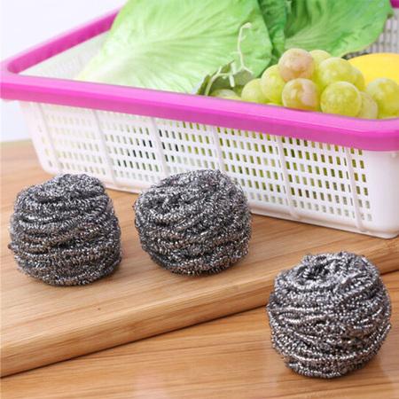 钢丝球3只装 钢丝刷清洁球